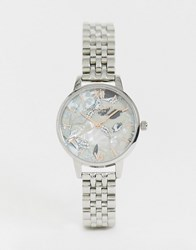 Olivia Burton Ob16vm38 Abstract Floral Bracelet Watch Silver