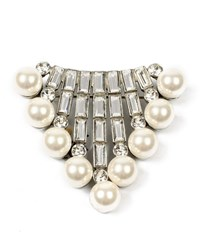 Ben Amun Crystal Baguette And Pearly Brooch