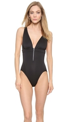 Adidas By Stella Mccartney Deep V Swimsuit Black