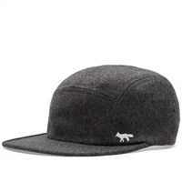 Maison Kitsune Fox 5 Panel Cap Grey