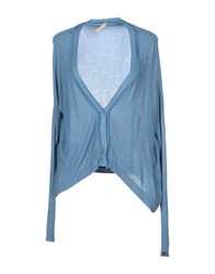 Fly Girl Knitwear Cardigans Women Sky Blue