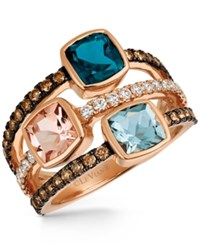 Le Vian Chocolatier Multi Gemstone 2 1 4 Ct. T.W. And Diamond 5 8 Ct. T.W. Ring In 14K Rose Gold