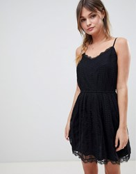 Abercrombie And Fitch Mesh Dress With Strap Detail Black