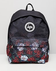 Hype Backpack In Faded Rose Print Black 36866734671bd
