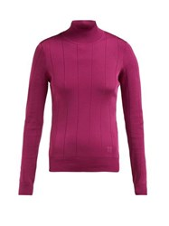 Givenchy High Neck Stretch Knit Top Pink