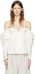 J.W.Anderson Off White Off The Shoulder Top