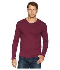 Mod O Doc Cardiff Long Sleeve Jersey V Neck Tee Mulberry T Shirt Purple
