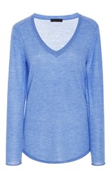 Atm Anthony Thomas Melillo V Neck Cashmere Sweater Light Blue