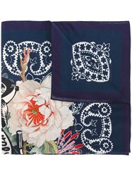 Mr And Mrs Italy Printed Scarf Blue