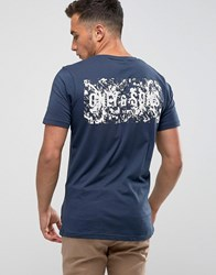 Only And Sons T Shirt With Back Brand Print Navy