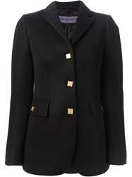 Emanuel Ungaro Gold Tone Buttons Jacket Black