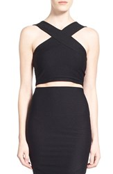 Women's Missguided Cross Strap Crop Top