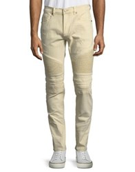 Reason Ontario Distressed Moto Jeans Bleached Sand