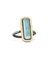 Armenta Emerald Cut Labradorite And Diamond Eternity Ring No Color