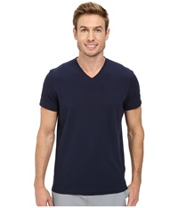 Kenneth Cole Sportswear Short Sleeve V Neck Indigo Men's Short Sleeve Pullover Blue