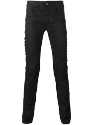 Diesel Black Gold Side Strap Slim Fit Jeans Black