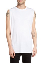 The Rail Men's Solid Muscle Tank White