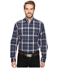 Stetson Night Sky Plaid Blue Men's Clothing