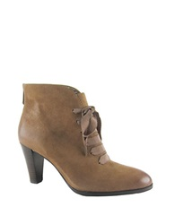 Adrienne Vittadini Tino Faux Leather Booties Brown