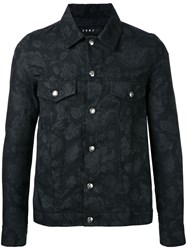 Roar Floral Patterned Jacket Black