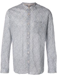 Dnl Printed Mandarin Collar Shirt Grey