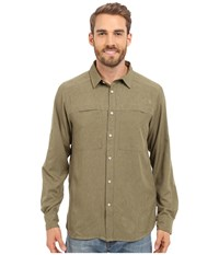 The North Face Long Sleeve Traverse Shirt Mountain Moss Heather Prior Season Clothing Beige