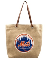 Little Earth New York Mets Burlap Tote Brown