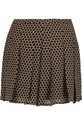 Michael Michael Kors Perrin Pleated Polka Dot Crepe Shorts Nude