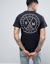 Friend Or Faux Tremer Back Print T Shirt Navy