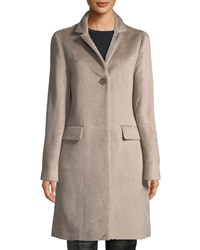 Cinzia Rocca Alpaca Blend Flap Pocket Coat Beige