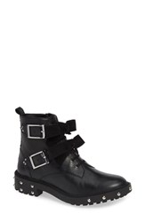 Linea Paolo Tenison Buckle Bootie Black Leather