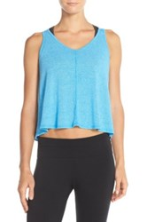 Hard Tail Knit Crop Tank Blue