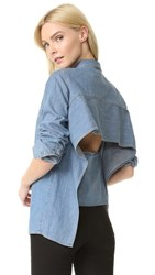 Cheap Monday Airy Denim Shirt Fans Blue