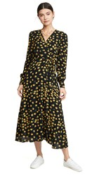 Lost Wander Outpost Wrap Dress Black Floral