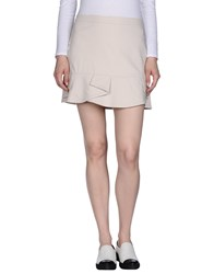 Annarita N. Mini Skirts Beige