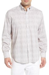 Bugatchi Classic Fit Marled Performance Sport Shirt Platinum