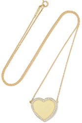 Jennifer Meyer 18 Karat Gold Diamond Necklace One Size