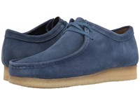 Clarks Wallabee Night Blue Suede Men's Lace Up Casual Shoes Navy