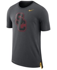 Nike Men's Usc Trojans Meshback Travel T Shirt Anthracite