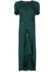 Sies Marjan Asymmetric Flared Dress Green