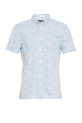 French Connection Men's Oxford Peach Floral Short Sleeve Shirt Delft