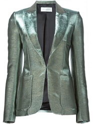 Faith Connexion Metallic Sheen Blazer Green