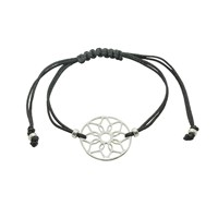Essentia By Love Lily Rose Dreamcatcher Friendship Bracelet Black And Silver