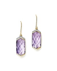 Bloomingdale's Amethyst Drop Earrings With Diamonds In 14K Yellow Gold 100 Exclusive Purple Yellow