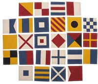 Thomas Paul Thomaspaul Nautical Flags Coaster Set Of 26