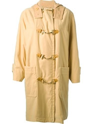 Celine Vintage Oversized Coat Yellow And Orange