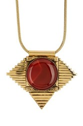 Yochi Design Cleopatra Cornelia Necklace Orange
