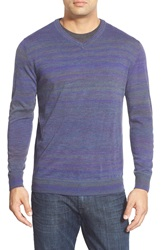 Bugatchi V Neck Sweater Grape