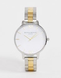 Olivia Burton Big Dial Gold And Silver Watch Multi