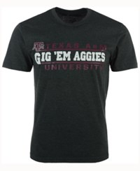 Colosseum Men's Texas A And M Aggies Verbiage Stack T Shirt Charcoal